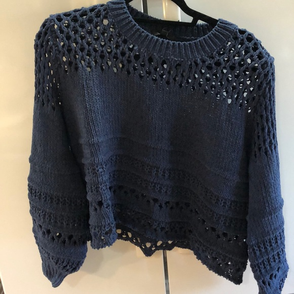 Sweaters - Chenille Balloon Sleeve Sweater